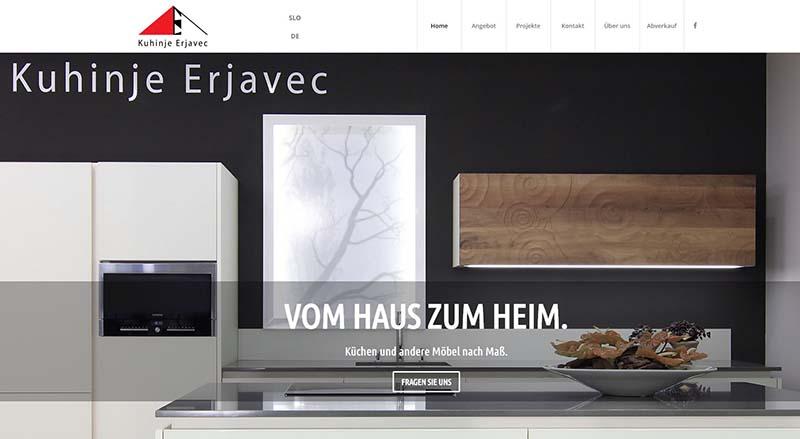 Webdesign Küechen Erjavec